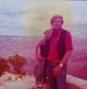 With Dad at Grand Canyon in 1978.